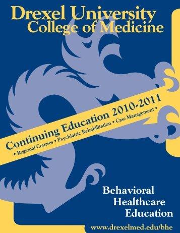 regional course descriptions - Drexel University College of Medicine