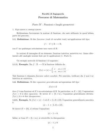 Parte IV - Dipartimento di Matematica e Informatica