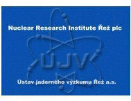 Nuclear Research Institute Řež plc - PolSCA
