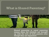 What is Shared Parenting?