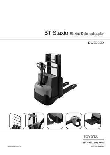 SWE200D BT Staxio Elektro-Deichselstapler