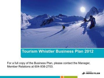 Current Business Plan (PDF) - Tourism Whistler Member Website