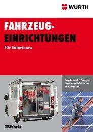Fahrzeugeinrichtungen für Solarteure - Würth