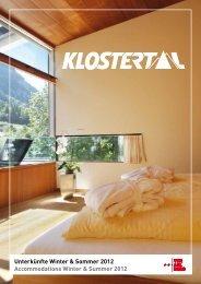 Klostertal Tourismus - Urlaub in der Alpenregion Bludenz