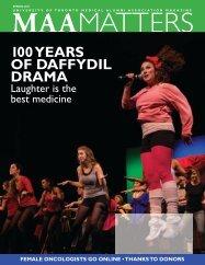 100 years of daffydil drama - University of Toronto Medical Alumni ...