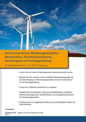 Rechtssicherheit bei Windenergieprojekten ... - Doebler PR