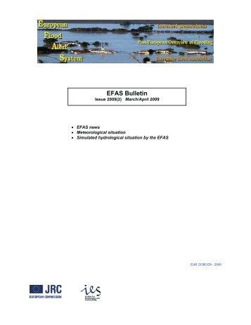 EFAS bulletin 2009 (2) - Floods Portal - Europa
