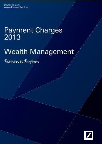 Payment Charges 2013 Wealth Management - Deutsche Bank