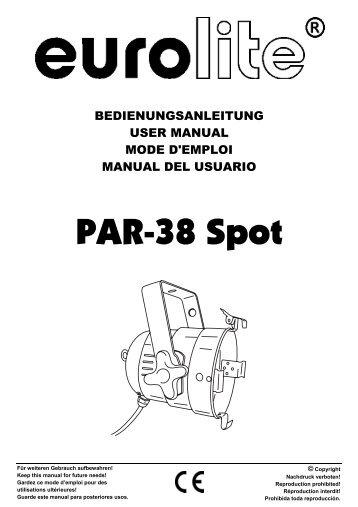 EUROLITE WF-250 User Manual