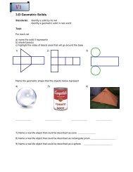 3-D geometric solids task