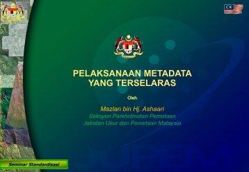 Metadata Implementation - Malaysia Geoportal