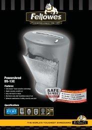 Fellowes DS-13C Brochure.pdf - TradeShredders.com