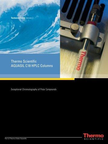 Thermo Scientific AQUASIL C18 HPLC Columns - Hplc.eu