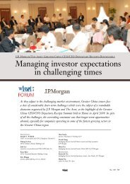 Managing investor expectations in challenging times - The Asset