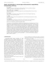 Auger recombination in Sb-based narrow-gap semiconductors