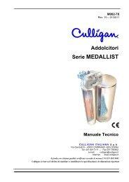Manuale tecnico addolcitori Culligan MEDALLIST - Depurazione ...