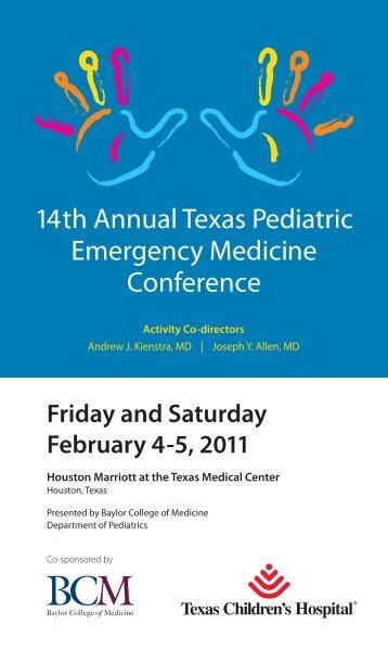 14th Annual Texas Pediatric Emergency Medicine ... - CME Activities