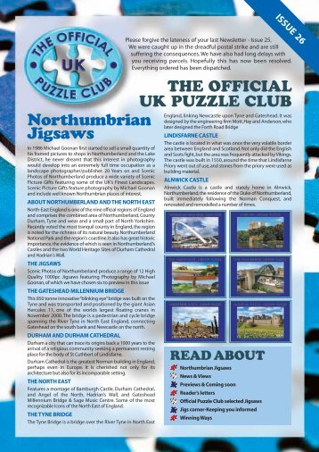 Northumbrian Jigsaws - Jigsaw Puzzles