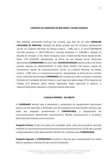 Contrato de Comodato de Bem Móvel e Outras Avenças - FFM ...