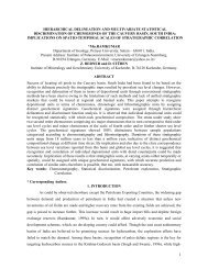 hierarchical delineation and multivariate statistical discrimination of ...