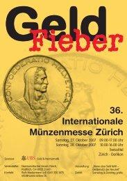 36. Internationale Münzenmesse Zürich