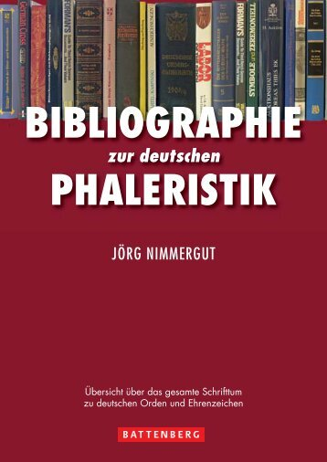 Bibliographie zur deutschen Phaleristik - Gietl Verlag