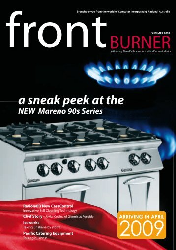 Download Front Burner Issue - Summer 2009 - Comcater