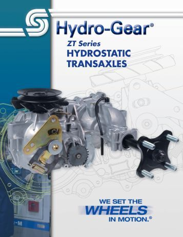 Hydro Gear transaxle manual