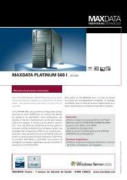 MAXDATA PLATINUM 500 I _févr/08
