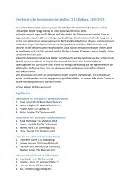 Obb Senioren-Einzelmeisterschaften am 13.01.13 bei der SpVgg ...