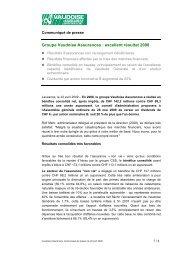 communiqu de presse projet 3 - Vaudoise Assurances