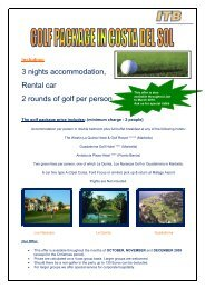 Costa Del Sol Golf Offer