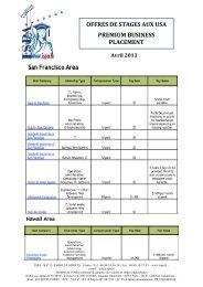 Les Offres de Stage de la semaine du 29 Avril 2013 - ISPA