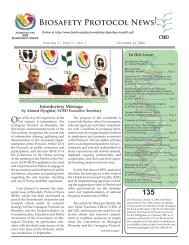 Biosafety Protocol News - Biosafety Clearing-House - Convention ...