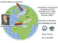 Variability in Ecological Conditions of the Russian Arctic LMEs