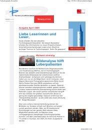 Liebe Leserinnen und Leser, Bildanalyse hilft Leberpatienten - Der ...