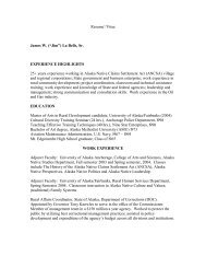 "Resume'/Vitae James W. (""Jim"") - National Resource Center for ..."