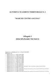 Parte I - II - III - AATO 2 Marche Centro Ancona