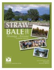 Straw Bale 2009 Summary Report - Sonoran Institute