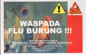 Waspada Flu Burung - Departemen Kesehatan Republik Indonesia