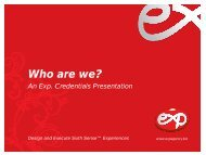 Exp. Credentials Presentation