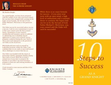 4527 Successful Grand Knight Flyer - Knights of Columbus