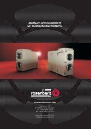 Kompaktlüftungsgeräte mit ... - Rosenberg Ventilatoren GmbH