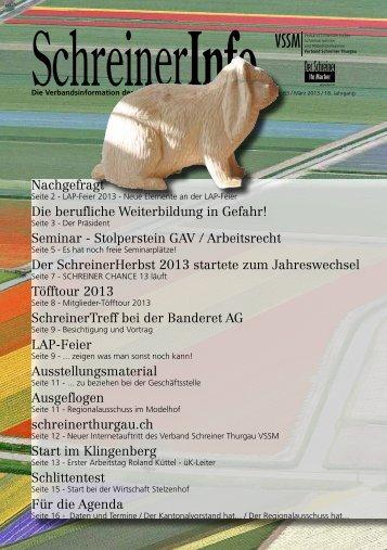 Seminar - Stolperstein GAV / Arbeitsrecht Der SchreinerHerbst 2013 ...