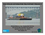 tmi steam generator transport project - APC/PennDOT Fall Seminar