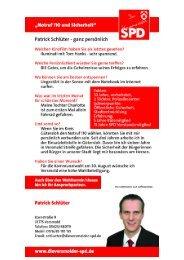 Kandidateneinleger Patrick Schlüter - SPD-Ortsverein Versmold