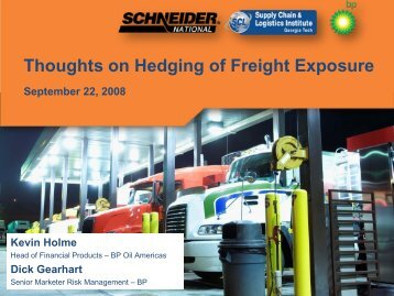 Thoughts on Hedging of Freight Exposure