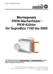 Montagesatz PWW-Nacherhitzer / PKW-Kühler für SupraBox 1100 ...