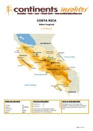 COSTA RICA - Continents Insolites