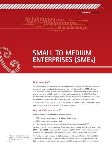 Small to Medium Enterprises (SMEs) - Te Puni Kokiri